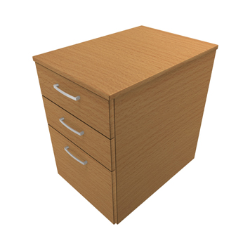 Ergonomic Solutions Direct - ESDDMPF-3-DRAWER-MOBILE-PEDESTAL - Click to enlarge